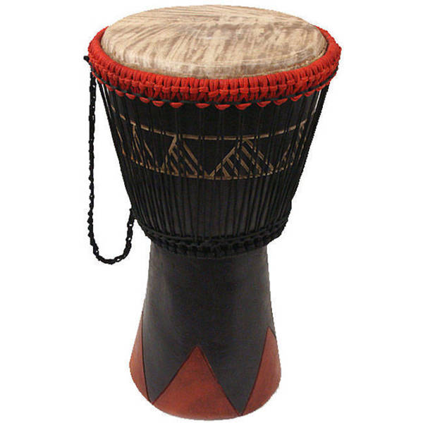Handcrafted 20-inch Djembe Drum (Ghana)