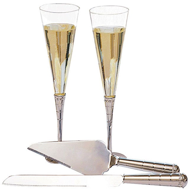 Royal Champagne Flutes and Servers Set