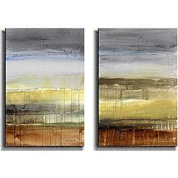 Thumbnail 1, Lanie Loreth 'Summer Rain' Canvas Art (Set of 2).