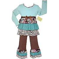 AnnLoren Girls Boutique 2-piece Jungle Rumba Outfit Set