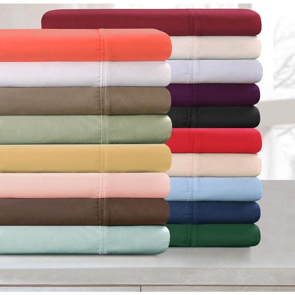 Superior Cotton 300 Thread Count Solid Pillowcase Set
