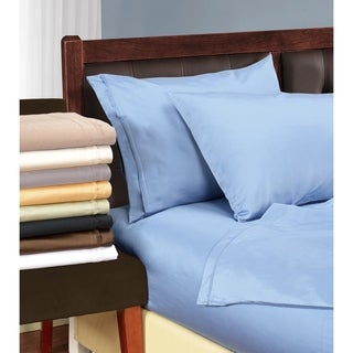 Superior Luxurious 100-percent Premium Long-staple Combed Cotton 1500 Thread Count Solid Pillowcase Set