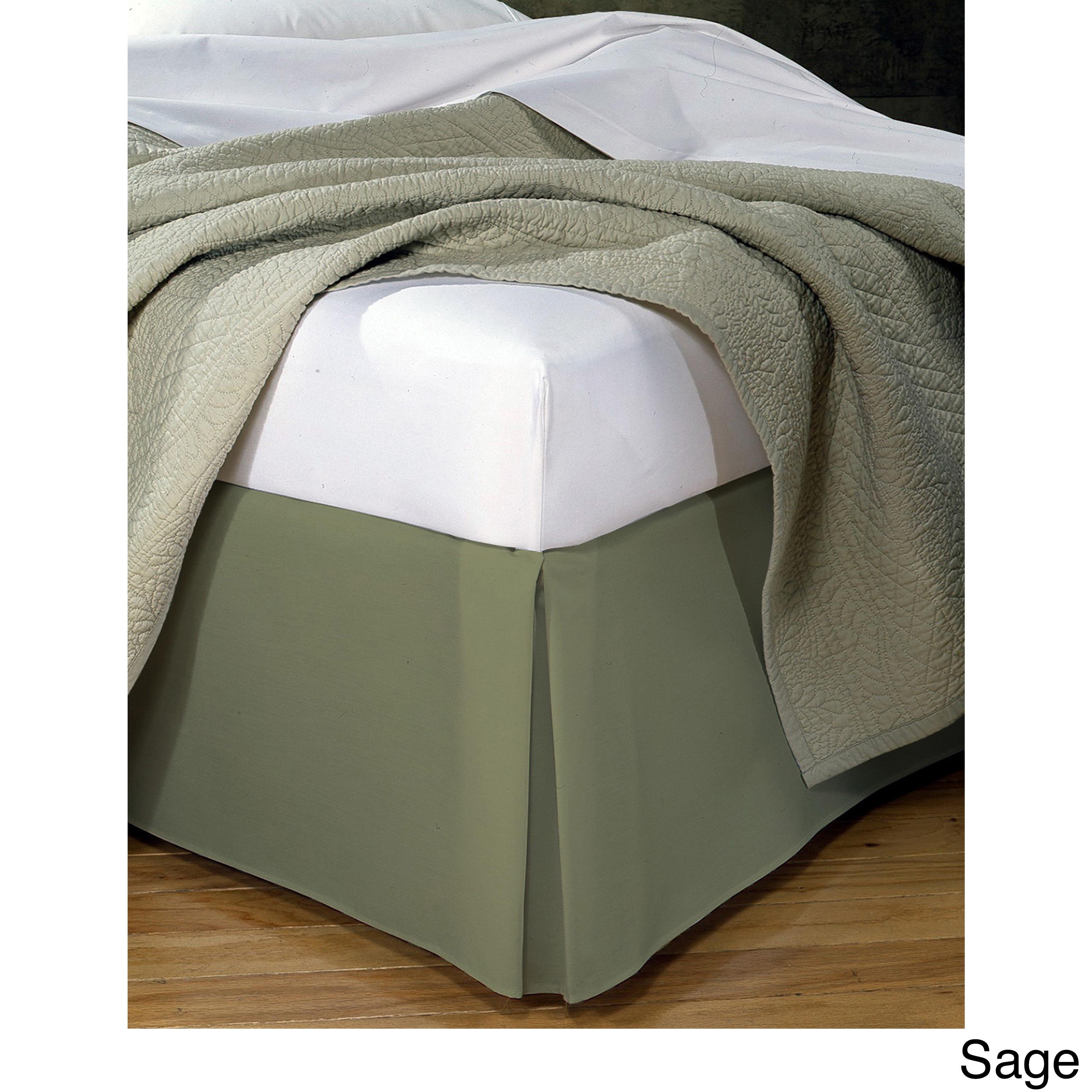 Fresh Ideas Poplin 14-inch Drop Bedskirt (Twin Sage), Gre...