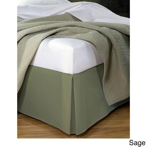 Fresh Ideas Poplin 14-inch Drop Bedskirt