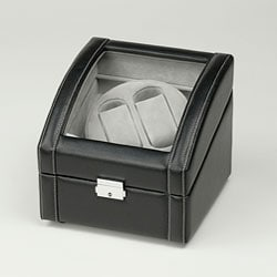 Black Double Watch Winder - Thumbnail 0