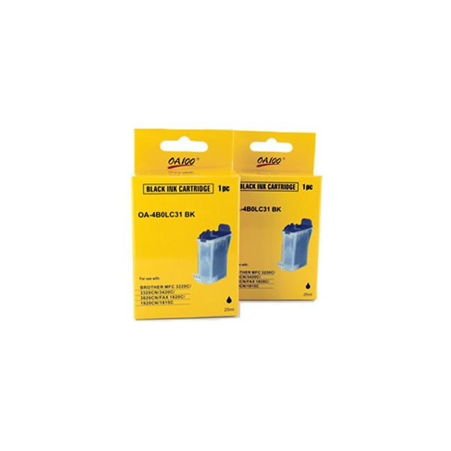 Black Ink Cartridge for Brother LC31BK (Pack of 2)