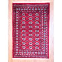 Handmade Herat Oriental Pakistan Bokhara Wool Rug (Pakistan) - 4' x 6'