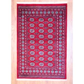 Herat Oriental Stan Hand Knotted Bokhara Wool Rug 4 X 6