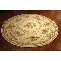 Safavieh Handmade Paradise Bouquet Ivory Wool and Silk Rug (4' Round)
