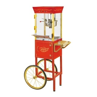 Nostalgia CCP510 Vintage 8-Ounce Commercial Popcorn Cart - 53 Inches Tall