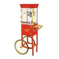 Nostalgia CCP510 Vintage 6-Ounce Commercial Popcorn Cart - 53 Inches Tall