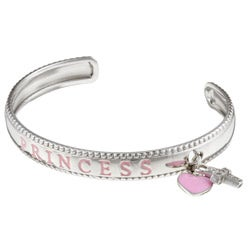 Sterling Essentials Sterling Silver 6-inch Adjustable Princess Child's Bracelet