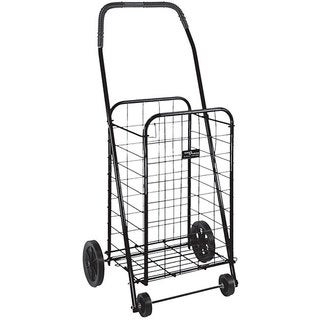 Mabis Healthcare Black Folding Shopping Cart