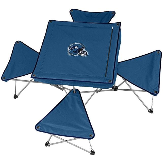 Seattle Seahawks Folding Table and Stool Set