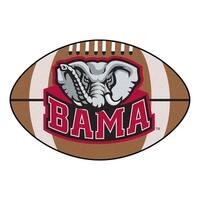 "University of Alabama Crimson Tide Football Mat 20.5""x32.5"" - N/A"
