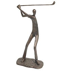 Male Golfer Cast Bronze Sculpture