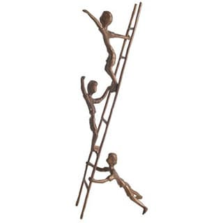 Children on a Ladder Cast Bronze Sculpture