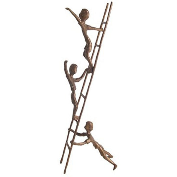 Children on a Ladder Cast Bronze Sculpture