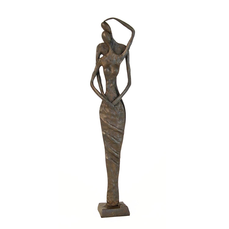 Cast Bronze 'Couple Caress' Statue