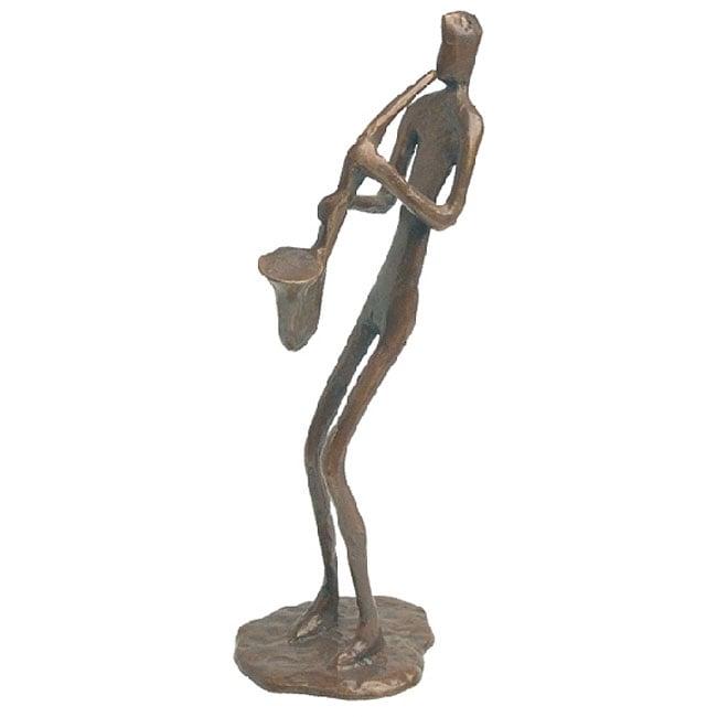 Saxophone Player Cast Bronze Sculpture