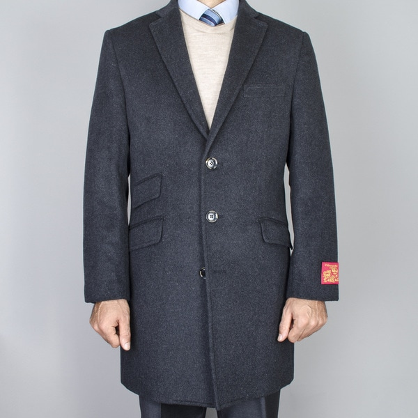 Wool/ Cashmere Charcoal Car Coat