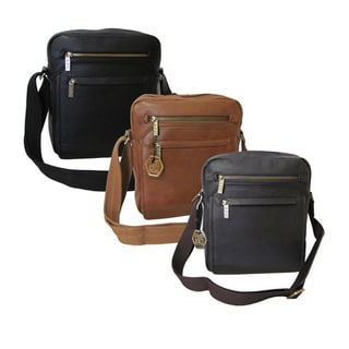 Amerileather Front Flap Leather Women's Messenger Bag with Key Lock