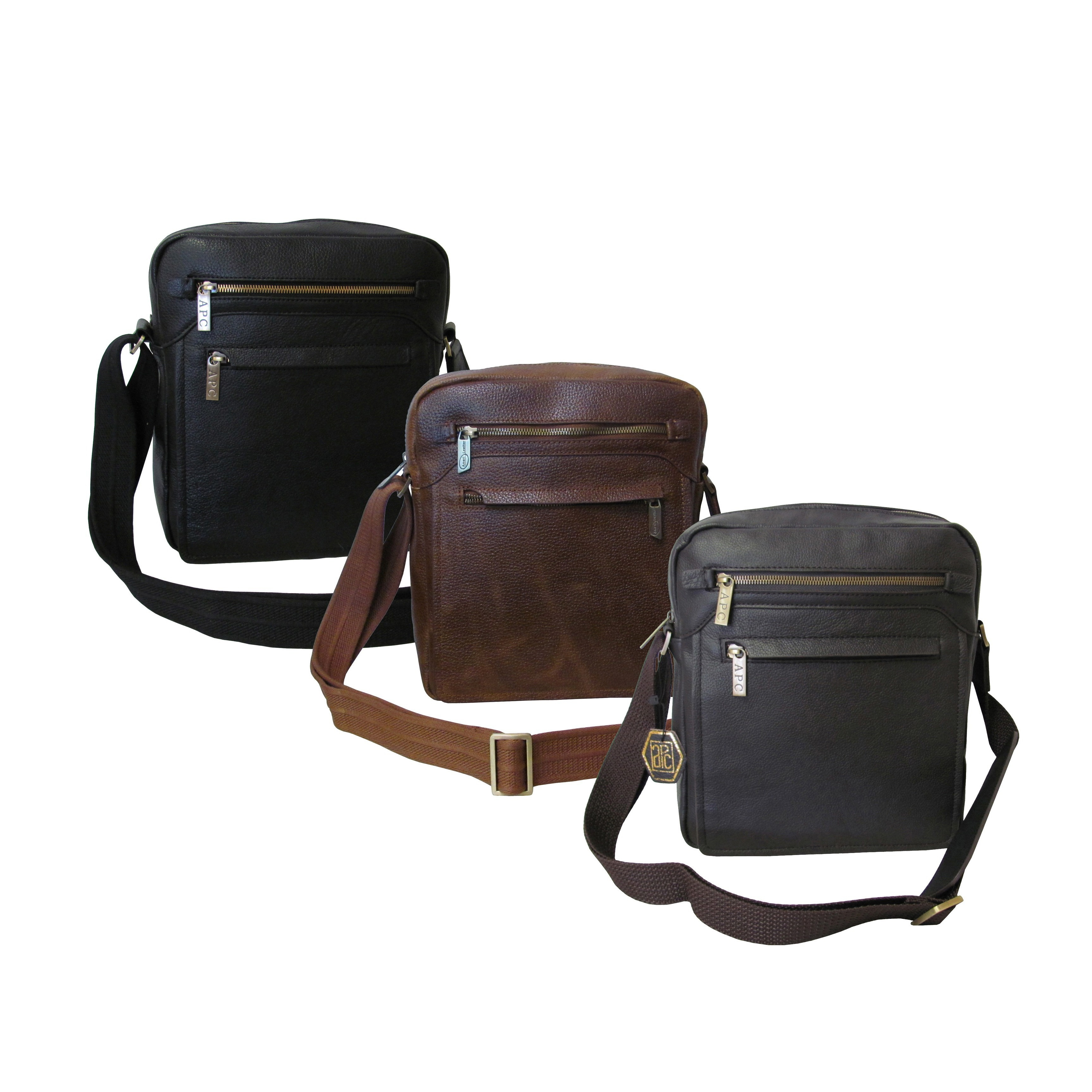 Amerileather Front Flap Leather Women S Messenger Bag With Key Lock