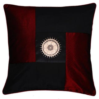 Decorative Red and Black Sunflower Cushion Cover