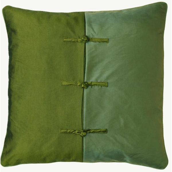 Chinese Ties Green/ Blue Throw Pillow Cover