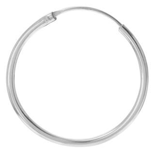 Journee Collection Sterling Silver Hoop Earrings (20 MM)