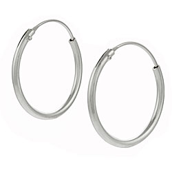 Journee Collection Sterling Silver 20mm Hoop Earrings