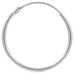 Journee Collection  Sterling Silver 25 mm Hoop Earrings - Thumbnail 1