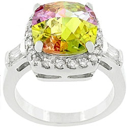 Kate Bissett Multicolor Cubic Zirconia Lucky's Ring