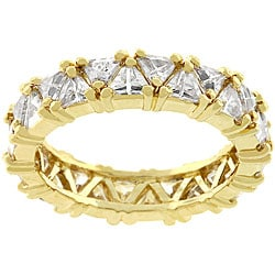 Kate Bissett Golden Trillion Fashionista CZ Ring