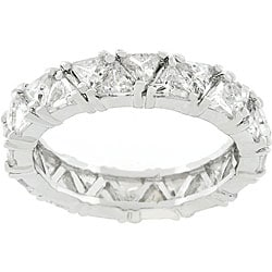 Kate Bissett Silvertone Trillion Fashionista CZ Ring