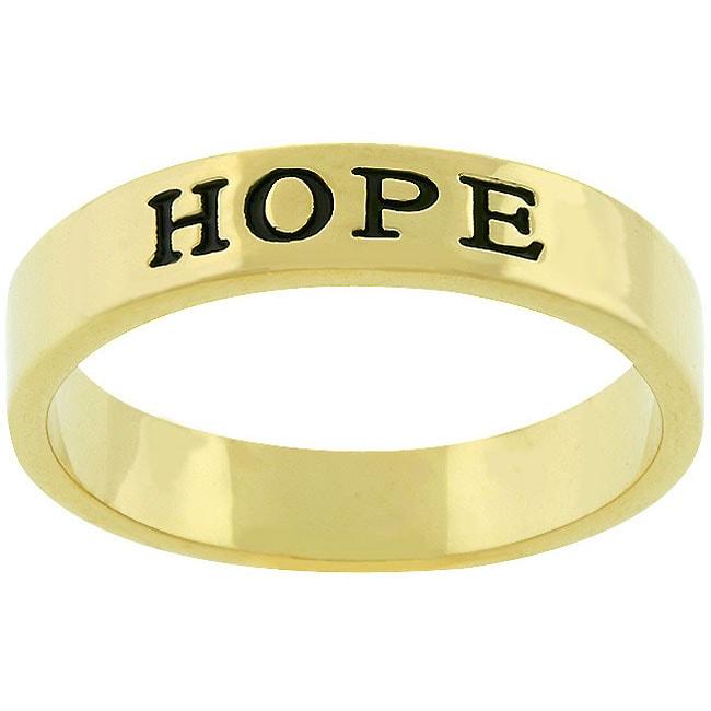 Kate Bissett Goldtone 'Hope' Ring