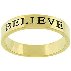 Kate Bissett Goldtone 'Believe' Fashion Ring|https://ak1.ostkcdn.com/images/products/3431061/3/Kate-Bissett-Goldtone-Believe-Fashion-Ring-P11509294.jpg?impolicy=medium