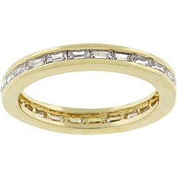 Kate Bissett 14k Gold Bonded Metal CZ Stackable Ring