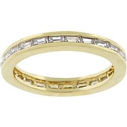 Kate Bissett 14k Gold Bonded Metal CZ Stackable Ring