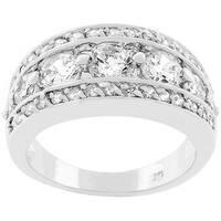 Kate Bissett Silvertone 'Illumination' Cubic Zirconia Ring