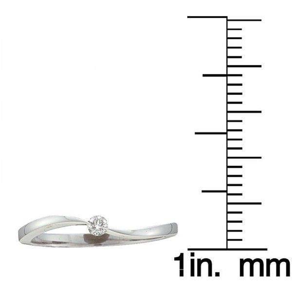 Unending Love 10k White Gold Diamond Promise Ring (I-J,I2)