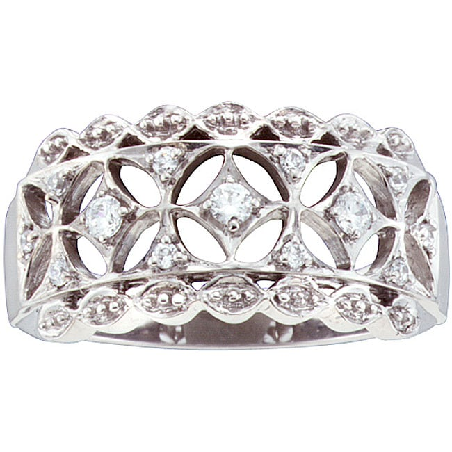 Unending Love Sterling Silver 1/6ct TDW Diamond Fahion Ring (H-I, I2-I3)
