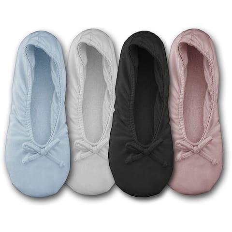 MUK LUKS® Women's Stretch Satin Ballerina Slipper