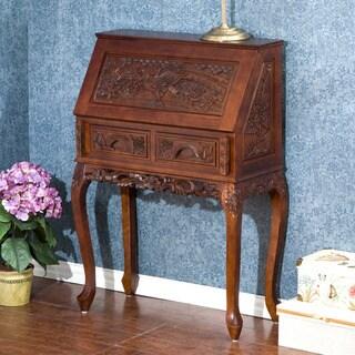 Decorative Carved Study Desk
