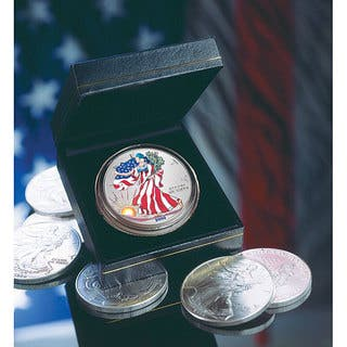 American Coin Treasures 2000 Colorized American Silver Eagle Coin|https://ak1.ostkcdn.com/images/products/3431581/P11509701.jpg?impolicy=medium