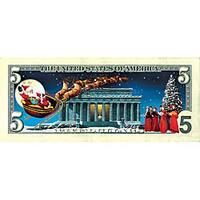 American Coin Treasures Jingle Bucks Colorized 5-dollar Bill