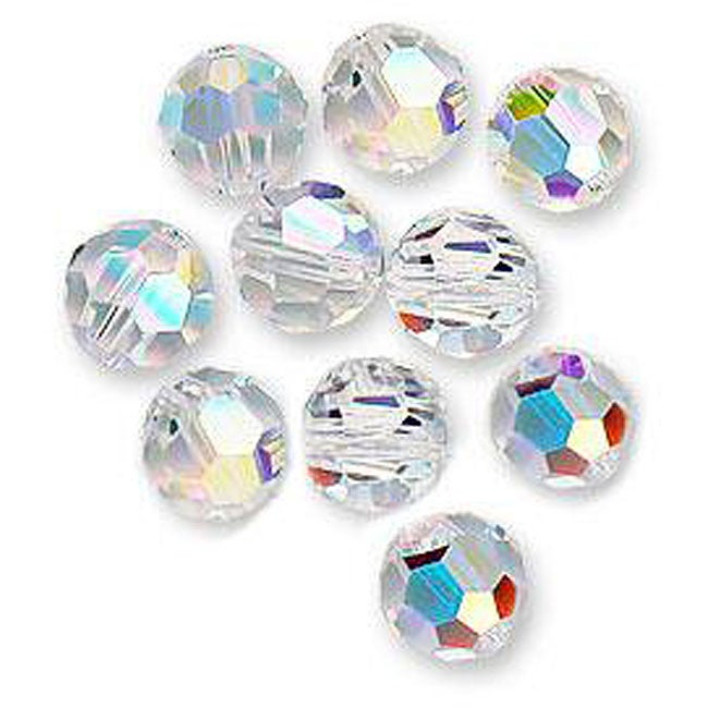 Beadaholique Austrian Crystal #5000 6-mm Round AB Beads (Pack of 10)