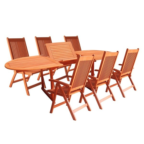 vista 7 piece patio dining set free shipping today