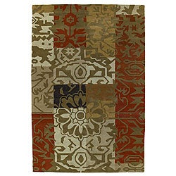 Hand-tufted Contemporary Wool Rug (5' x 8')