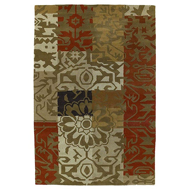 Hand-tufted Transitional Wool Rug (8' x 10'6)
